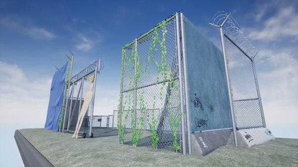 modular chain link fence model