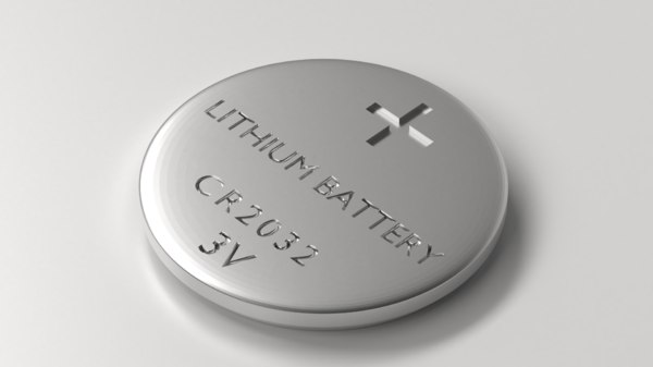 battery - coin cell 3D model