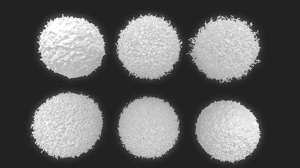 3D lymphocyte blood cells