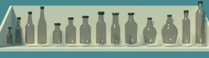 sauce bottles 3D model