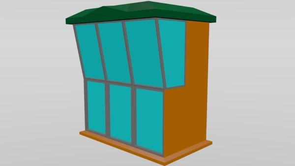 3D model shop cabin