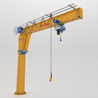 3D industry crane architecture model