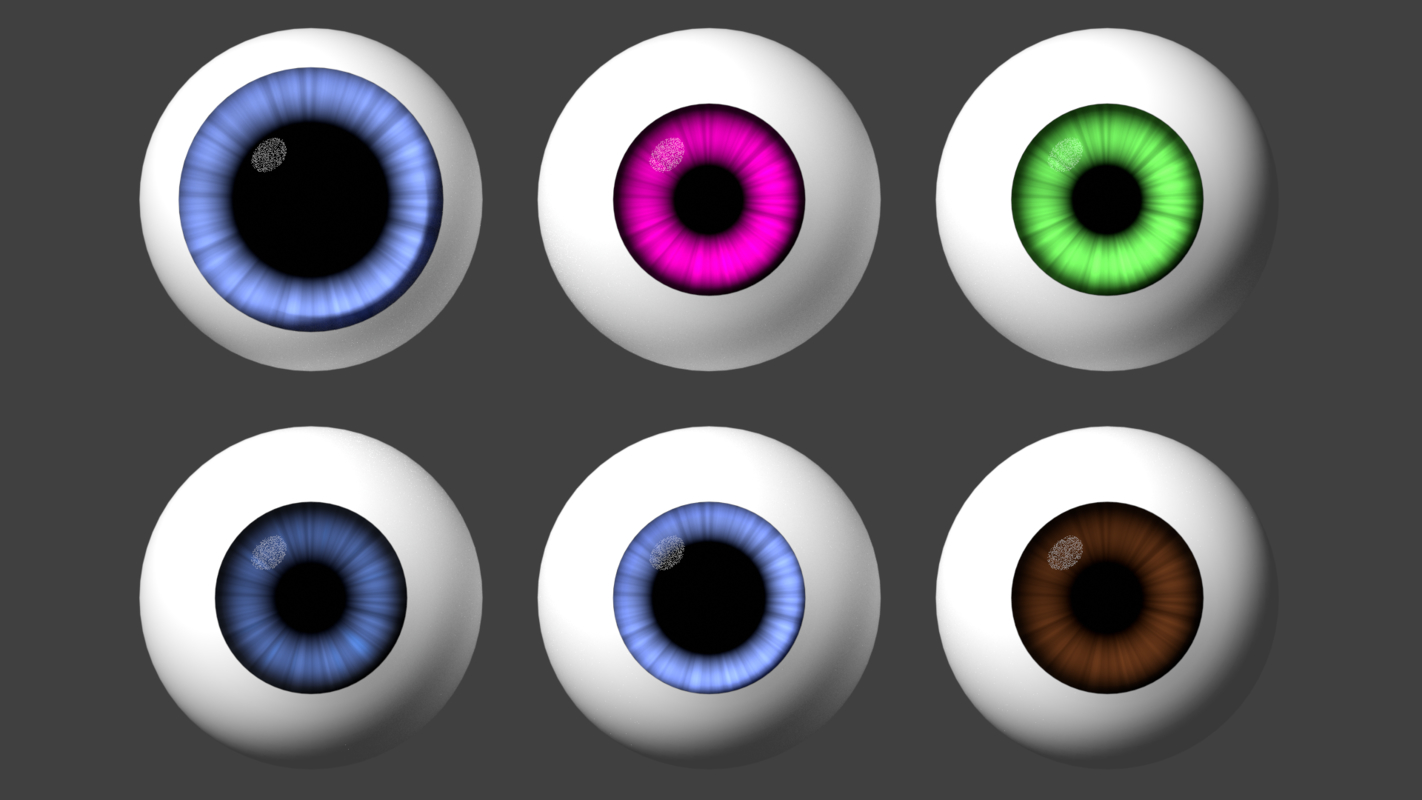 3D eye cartoon toon model