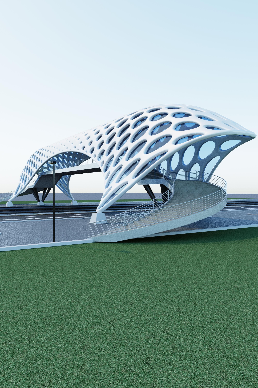 pedestrian overpass 3D model