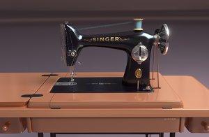 3D retro sewing machine