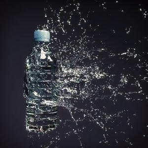 water splash bottle 4 3D