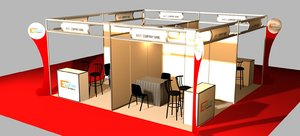 3D model exhibition booth 6x6 octanorm
