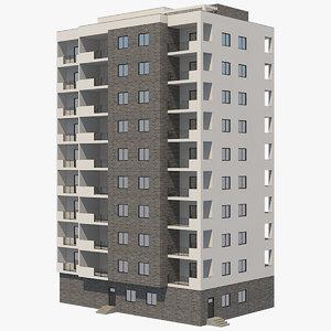 apartment buildings 34 3D model
