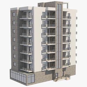 apartment building 35 model