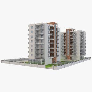 apartment buildings block 3 model
