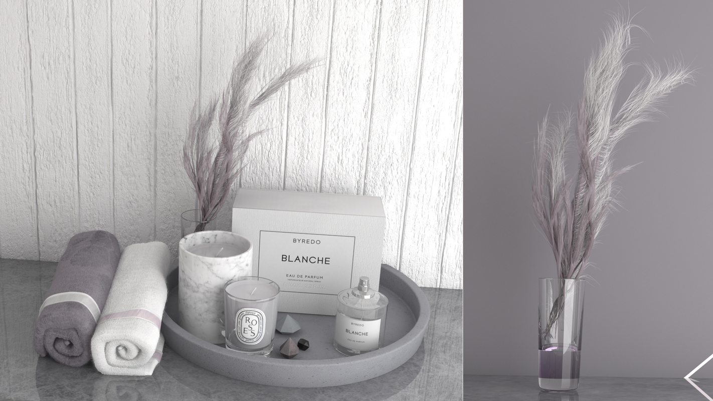 3D model decorative perfume candle plant