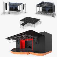 stages concert scene 3D