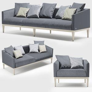 life sofa busnelli 3D model