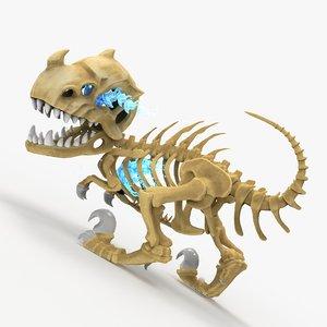 3D polygonal dragon model