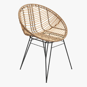 sakura rattan nature modern chair 3D model