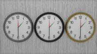 Wall Clock (Black\Gold\Silver)