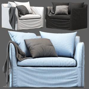 3D globewest vittoria armchair model