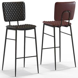 cult furniture elgin stool 3D model