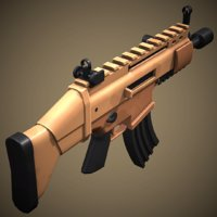 stylized scar rifle 3D