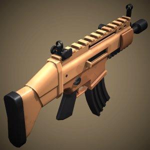 stylized scar rifle 3D