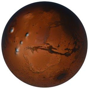 3D globe mars 2