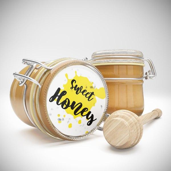 jars honey 3D