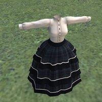 crinoline dress 3D model