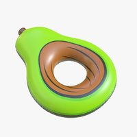 realistic float ring avocado 3D model