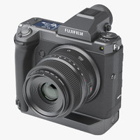 3D model photoreal camera fujifilm gfx