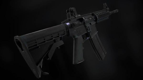 rifle m4 details 3D