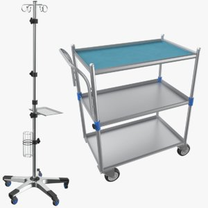 3D real iv stand medical