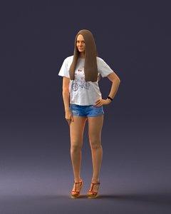 3D model woman fashion
