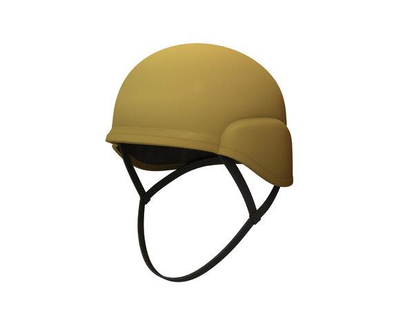 3D combat helmet model