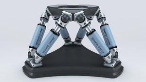 hexapod platform 3D model