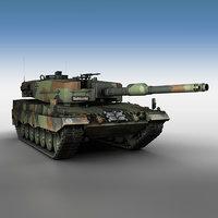 leopard 2a4 main battle tank 3D