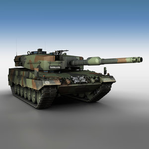 leopard 2a4 main battle tank 3D