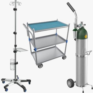 3D real medical equipment model