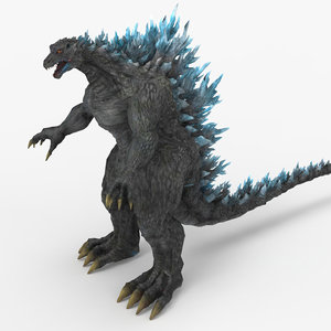 monster godzilla 3D model