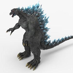 monster godzilla 3D model