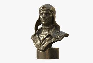 chkalov valery pavlovich bust 3D model