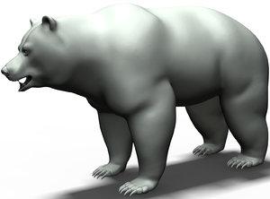 brown bear base mesh 3D model