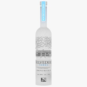 realistic belvedere vodka bottle model