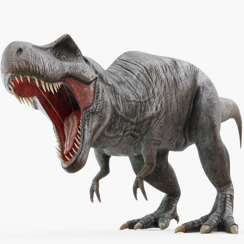 3D Dinosaurs Rigged Model