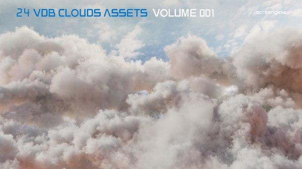3D vdb clouds 2 1