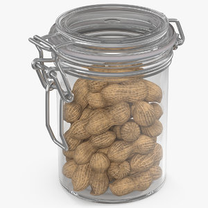 glass jar peanuts 3D model
