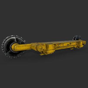 shearer harvester mining 3D model