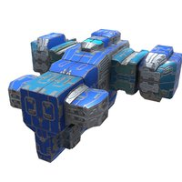 3D missile corvette model