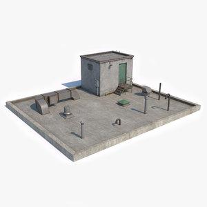 3D model rooftop pbr