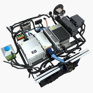 3D electric car cabin parts