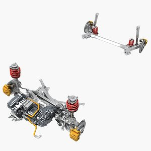 electric car suspension 3D
